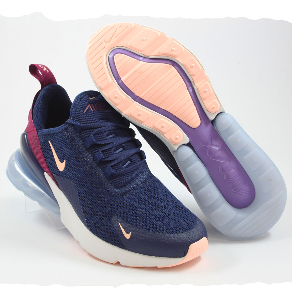 Nike Damen Sneaker Air Max 270 Blue Void/Crimson Tint