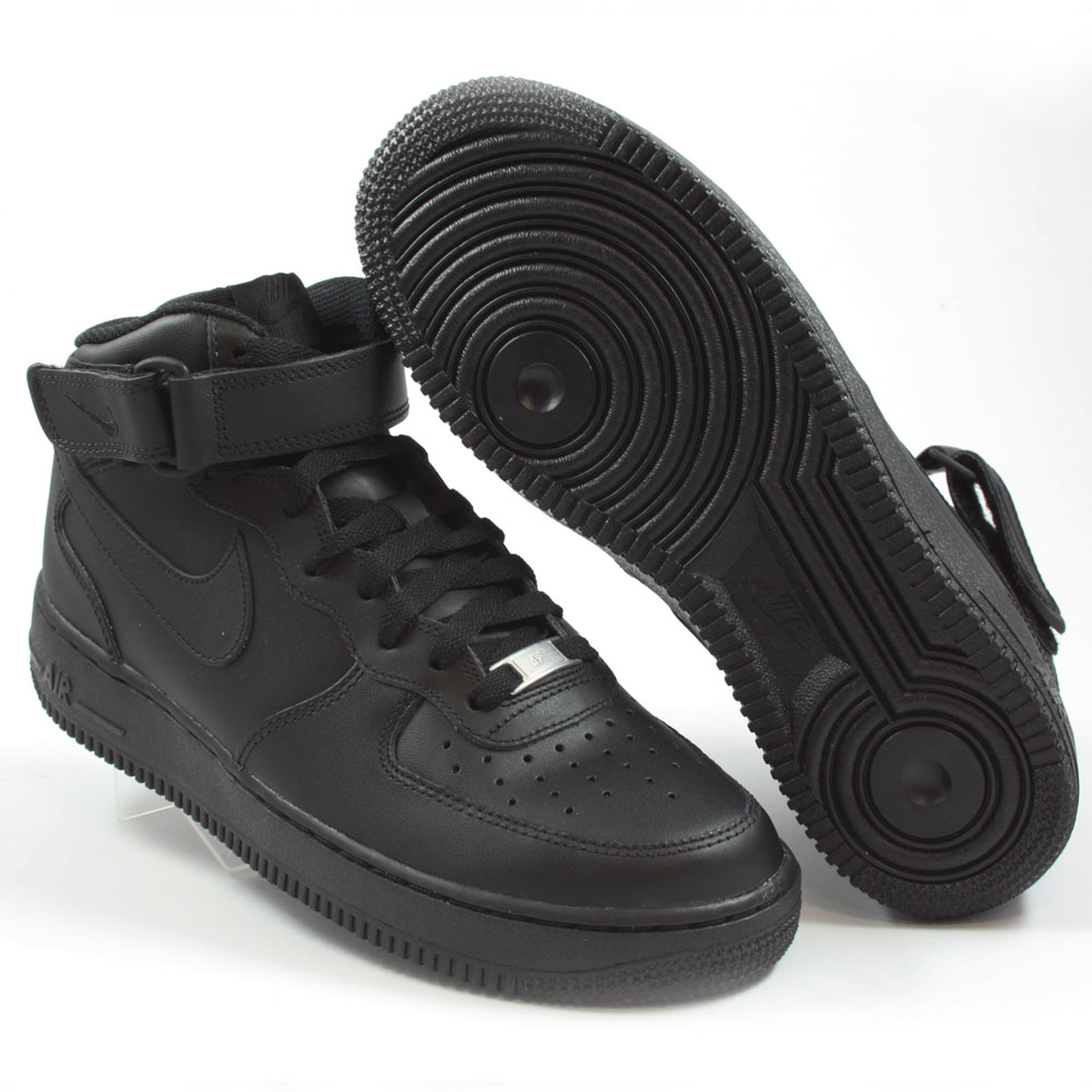 Nike Herren Sneaker Air Force 1 Mid ´07 BlackBlack Black