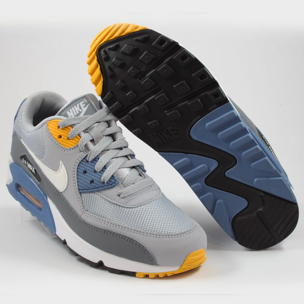 the best attitude 5dc4b 62bea ... Preview 2 Nike Herren Sneaker Air Max 90 Essential Wolf Grey White-Indigo  Storm ...