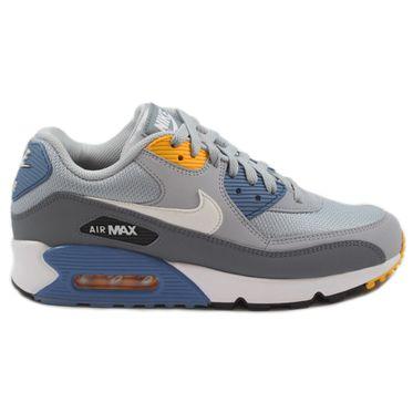Nike Herren Sneaker Air Max 90 Essential Wolg Grey/White-Indigo Storm