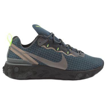 Nike Herren Sneaker React Element 55 Armory Navy/Mtlc Dark Grey