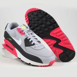 Preview 2 Nike Damen Sneaker Air Max 90 Wolf Grey/White-Rush Pink-Volt
