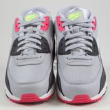 Preview 4 Nike Damen Sneaker Air Max 90 Wolf Grey/White-Rush Pink-Volt