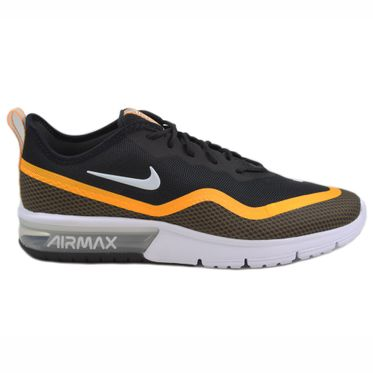 Nike Herren Sneaker Air Max Sequent 4.5 SE Black/White-University Gold