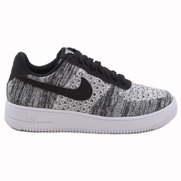 Nike Herren Sneaker Air Force 1 Flyknit 2.0 Black/Pure Platinum-Black