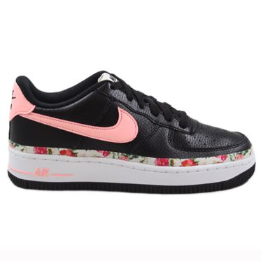 Nike Damen/Kinder Sneaker Air Force 1 VF Black/Pink Tint-White