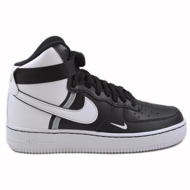 Nike Damen/Kinder Sneaker Air Force 1 High LV8 2 Black/White-Wolf Grey-White