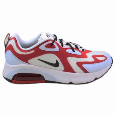 Nike Herren Sneaker Air Max 200 White/Black-Gym Red-Half Blue
