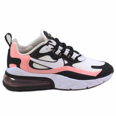 Nike Herren Sneaker Air Max 270 React Black/White-Bleached Coral