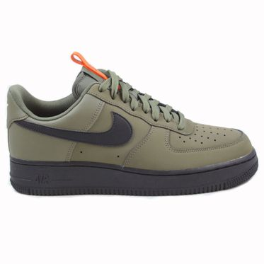 Nike Herren Sneaker Air Force 1 ´07 Medium Olive/Black-Starfish
