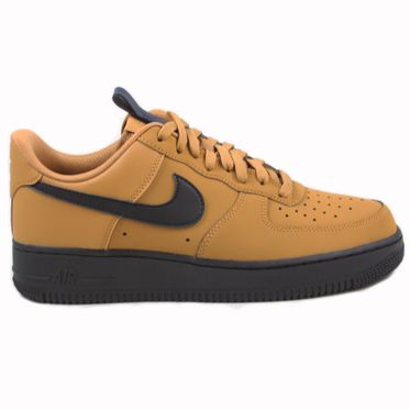 Nike Herren Sneaker Air Force 1 ´07 Wheat/Black-Midnight Navy