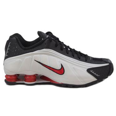 Nike Herren Sneaker Shox R4 Platinum Tint/University Red