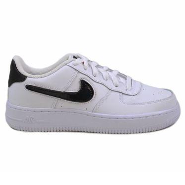 Nike Damen/Kinder Sneaker Air Force 1 LV8 3 White/Black-Green Strike-White