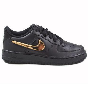 Nike Damen/Kinder Sneaker Air Force 1 LV8 3 Black/Black-Black-White