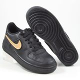 Nike Damen/Kinder Sneaker Air Force 1 LV8 3 Black/Black-Black-White