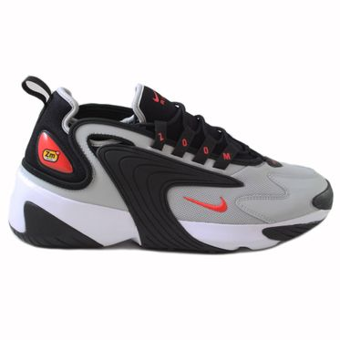 Nike Herren Sneaker ZOOM 2K Black/Track Red-Grey Fog-White