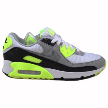 Nike Herren Sneaker Air Max 90 White/Particle Grey-Volt-Black