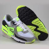 Preview 2 Nike Herren Sneaker Air Max 90 White/Particle Grey-Volt-Black
