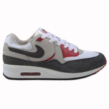 Nike Herren Sneaker Air Max Light Essential White/Mdm Ash-Gym Rd-Lght Ash