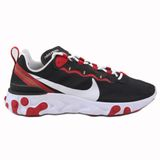Nike Herren Sneaker React Element 55 Black/White-Gym Red