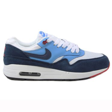 Nike Herren Sneaker Air Max 1 Essential White/Midnight Navy-Unvrsty Bl