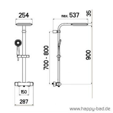 Nikles Duschsystem Tronico 250 Thermostat im SET – Bild 6