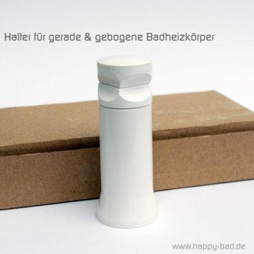 4x Kunststoff-Halter für gebogene oder gerade Badheizkörper – Bild 1