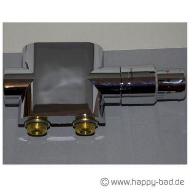 Oventrop Anschlußarmatur Multiblock-T Durchgang Set, chrom