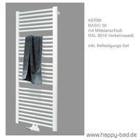 Kermi Basic 50 Badheizkörper mit Mittelanschluß Höhe 1172mm x Breite 899mm, E001M1500602XXK 001