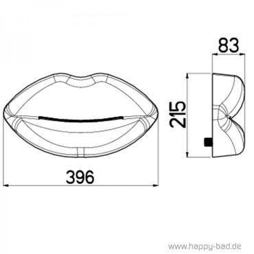 Kaskade Kopfbrause LIPS Rot – Bild 4