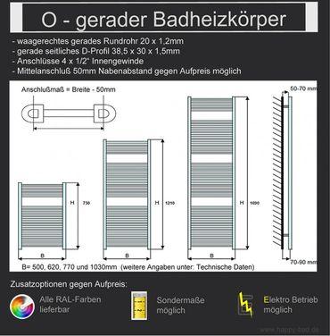 Gerader Badheizkörper  970x 770 – Bild 6