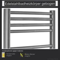 Edelstahl Badheizkörper gebogen 970x500mm 001