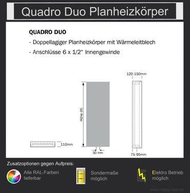Quadro Duo Planheizkörper 970mm x 480mm – Bild 5