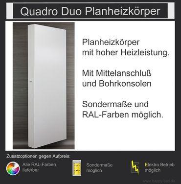 Quadro Duo Planheizkörper 1210mm x 600mm