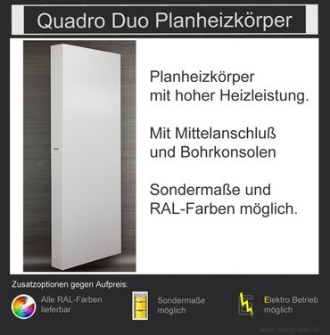Quadro Duo Planheizkörper 1210mm x 600mm – Bild 1