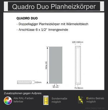 Quadro Duo Planheizkörper 1490mm x 480mm – Bild 5
