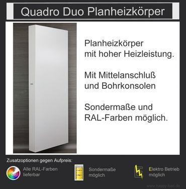 Quadro Duo Planheizkörper 1810mm x 750mm