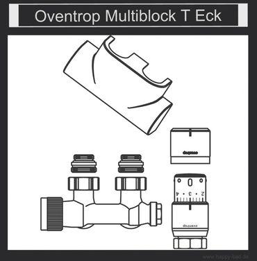 Oventrop Anschlußarmatur Multiblock-T Eckanschluß - Set, weiß oder farbig – Bild 2