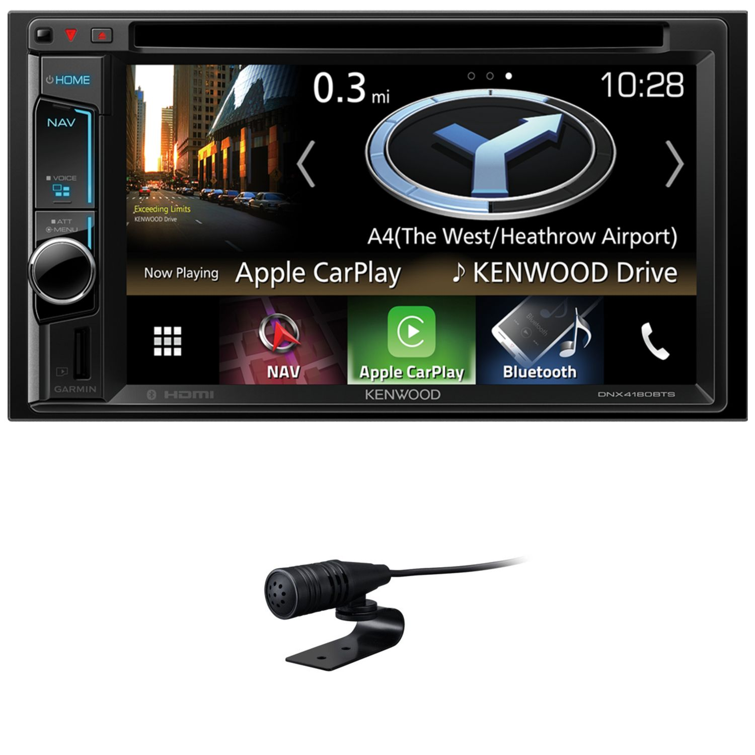 kenwood dnx 4180bts 2 din naviceiver apple carplay. Black Bedroom Furniture Sets. Home Design Ideas