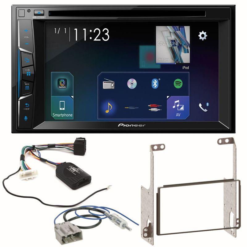 Pioneer AVH-Z2100BT Moniceiver Bluetooth USB DVD Einbauset für Nissan X-Trail T31