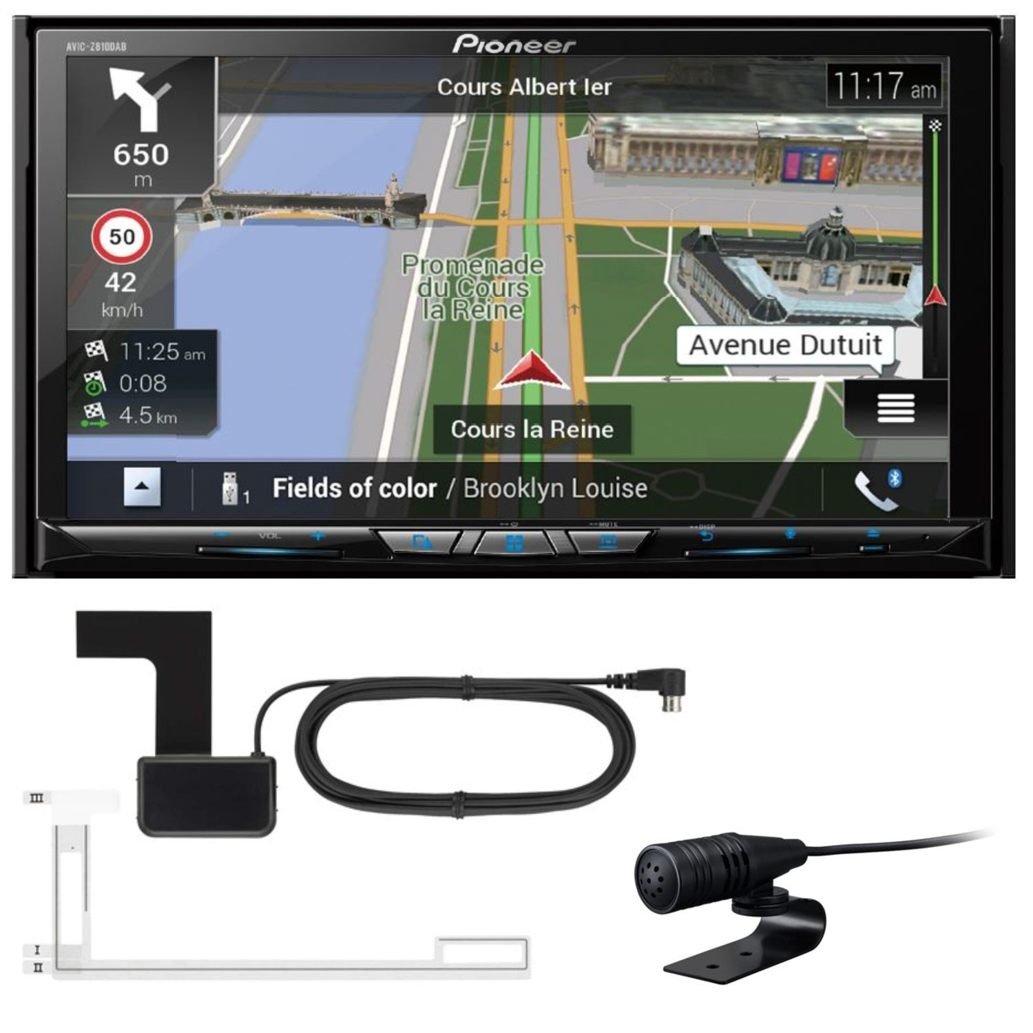 pioneer avic z810dab 2 din navigation dab apple carplay. Black Bedroom Furniture Sets. Home Design Ideas