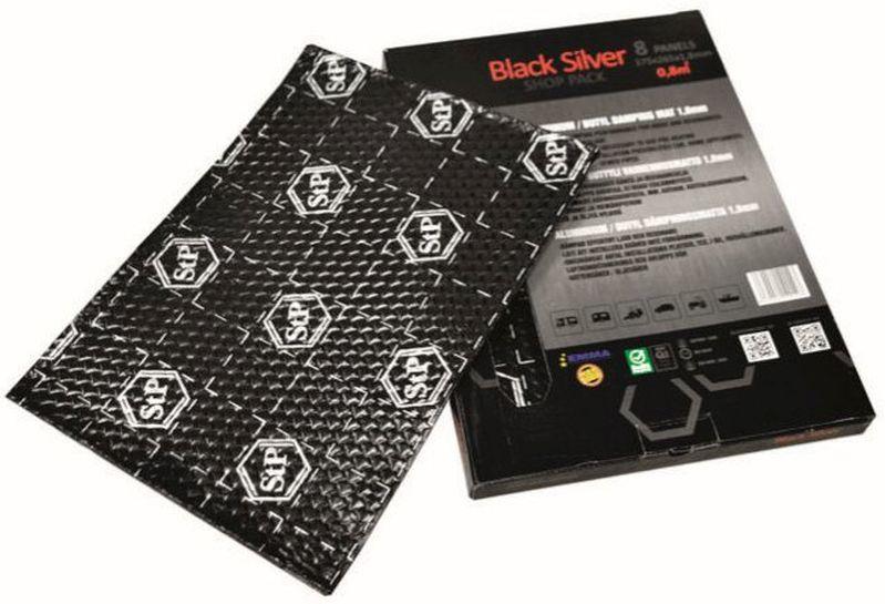 STP Black Silver Alu Butyl Bulk Pack 12 Matten 500 x 750 x 1,8 mm 4,5 m² Matte Dämmung