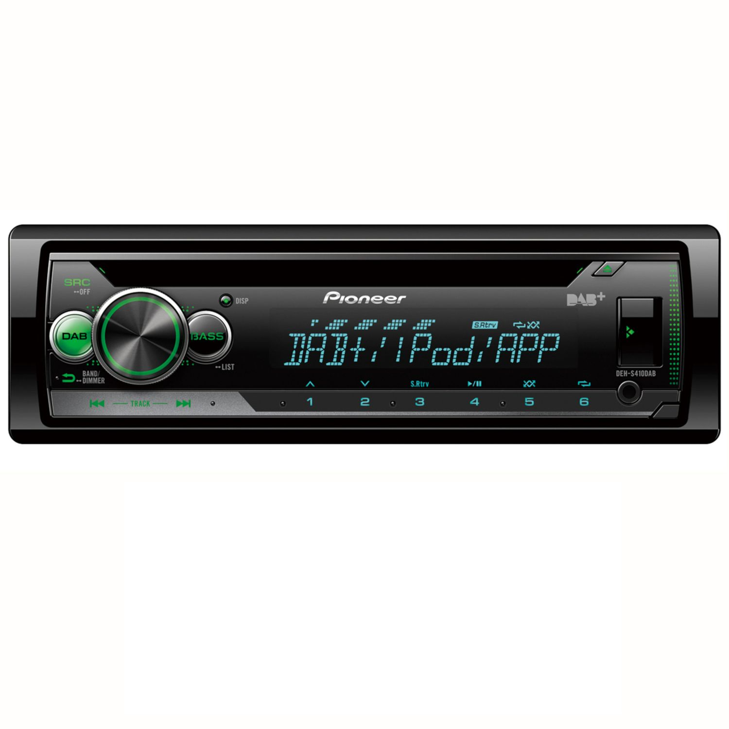 pioneer deh s410dab cd mp3 dab usb autoradio digitalradio. Black Bedroom Furniture Sets. Home Design Ideas