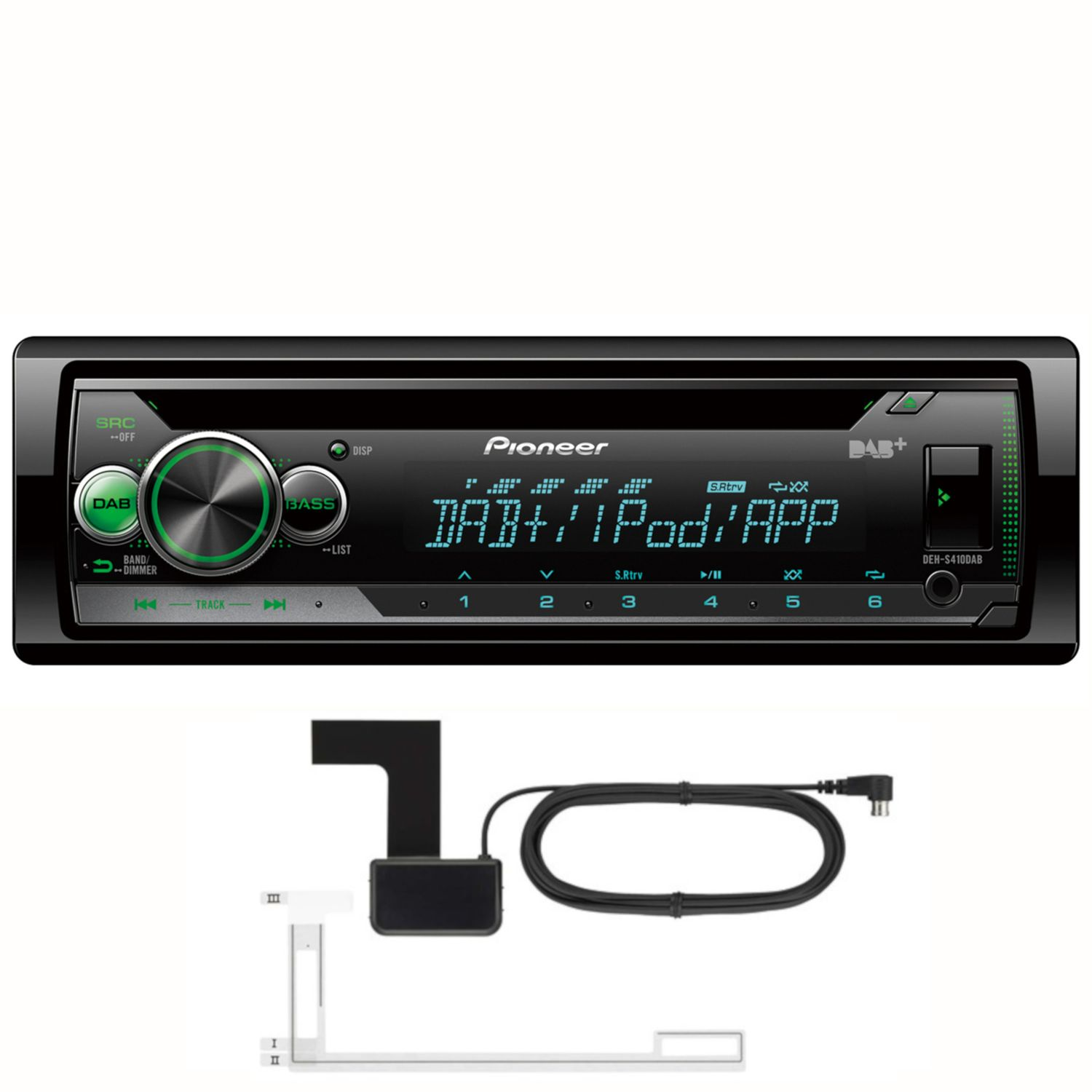 pioneer deh s410dab cd mp3 usb dab autoradio inkl dab. Black Bedroom Furniture Sets. Home Design Ideas