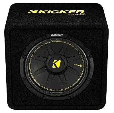 Kicker VCompC12 Subwoofer VCWC124 Bassreflexbox 30 cm 300 Watt RMS Kiste Woofer