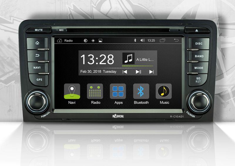 Radical R-C10AD1 Android Moniceiver für Audi A3 8P 8PA Bluetooth CD DVD USB WiFi