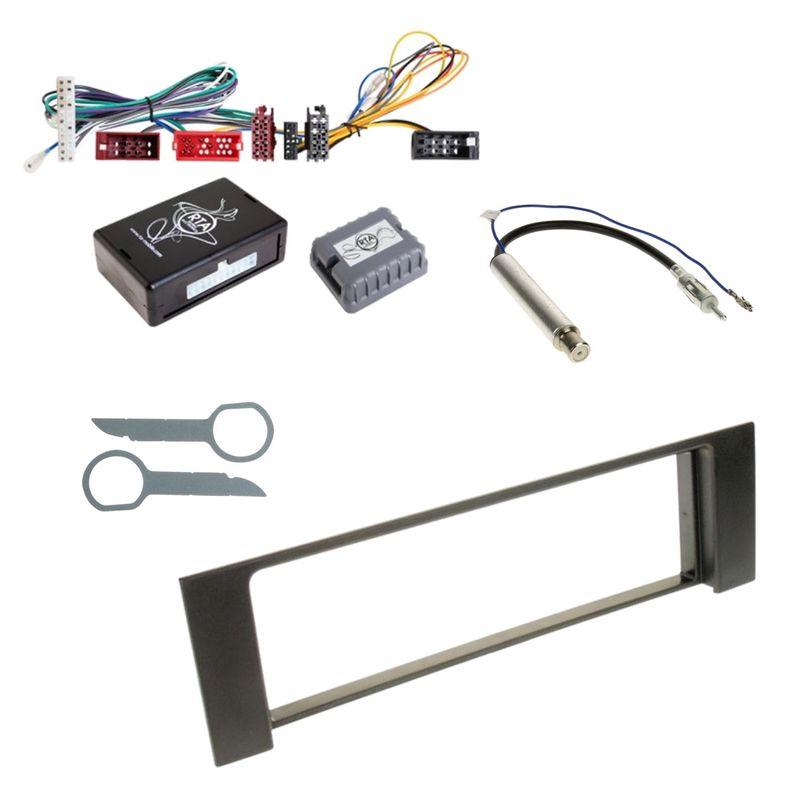 Autoradio Einbauset für Audi A4 B6 B7 1-DIN Radioblende Antennen Adapter Kabel