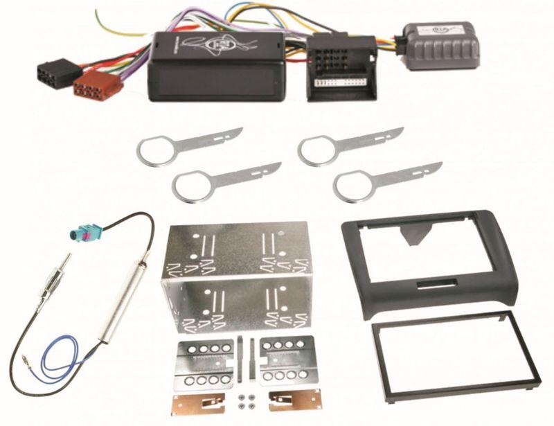 Autoradio Einbauset für Audi TT 8J 2-DIN Antennen Adapter Kabel Radioblende