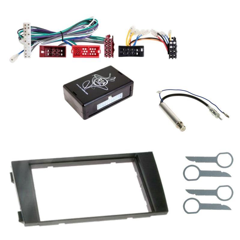 Autoradio Einbauset für Audi A6 4B bis 04/2001 2-DIN Adapter Radioblende