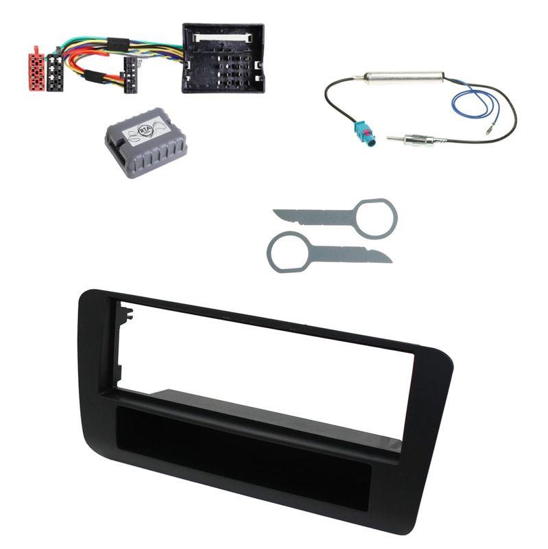 Autoradio Einbauset für Audi A1 1-DIN Radioblende Antennen Adapter Kabel CAN Bus